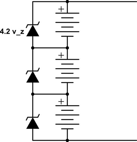 using zener diodes in series lithium ion li ion balancing with zener diodes electrical engineering stack exchange