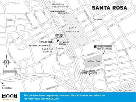 Map of Santa Rosa, California