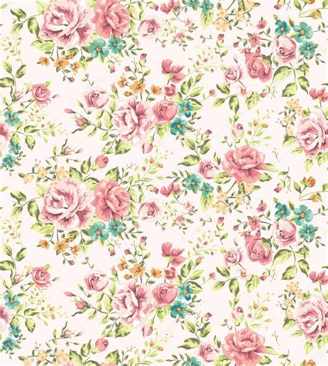 flower pattern stock illustrations classic wallpaper seamless vintage flower pattern vector