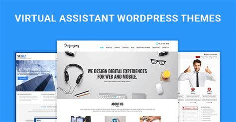 Virtual Assistant Wordpress Themes For Va And Virtual Assistants Skt Assistant Website Template