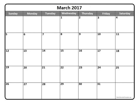 Calendar Template Weekly 2017 March 2017 Calendar Template Weekly Calendar Template