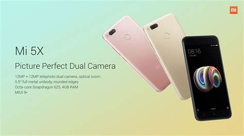 Xiaomi Mi5x Mi 5x 4 64 Gb Gold Ram 4gb Rom 64gb xiaomi mi 5x 5 5 inch 4gb 64gb smartphone black