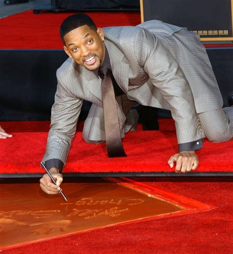Will Smith Now Cemented In by Will Smith Sank His And At Landmark