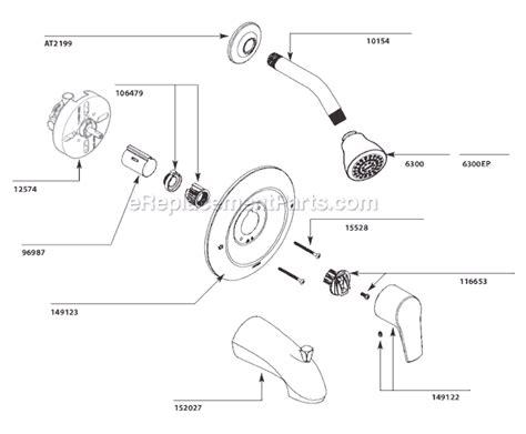 Moen Shower Replacement Parts by Moen T2801 Parts List And Diagram Ereplacementparts