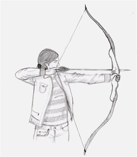Iris Bow And Arrow Sketch By Waterdrup On Deviantart Bow And Arrow Drawing
