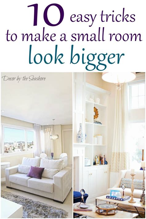 How To Make Small Bedrooms Look Bigger | how to make a small room look bigger decor by the seashore