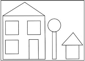 best photos of preschool house template my family in preschool house shape template pinteres