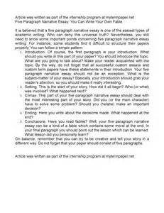 Five Paragraph Essay Writing by Calam 233 O Five Paragraph Narrative Essay You Can Write Your Own Fable