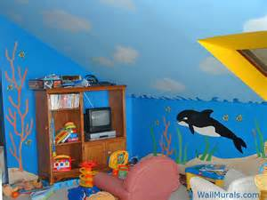 Ocean Wall Mural ocean wall murals beach themed murals undersea animals