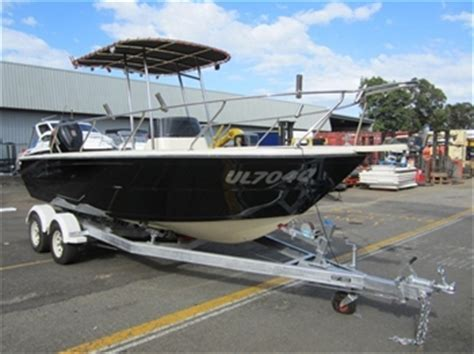 boat auctions nsw 6m offshore plate aluminium hull fishing boat located