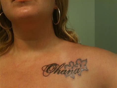 periwinkle tattoo designs ohana means family in hawaiian in porcelain font with