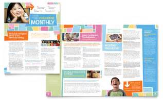 Newsletter Template by Preschool Day Care Newsletter Template Design
