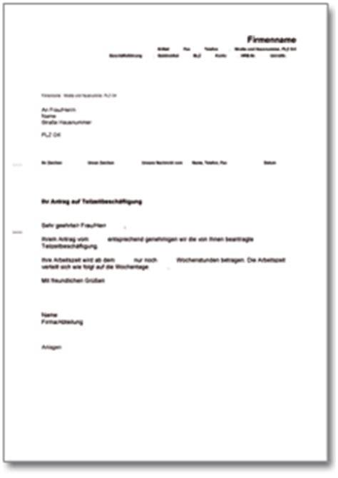 Vorlage Antrag Reduzierung Arbeitszeit Dehoga Shop Bewilligung Teilzeitarbeit Kaufen