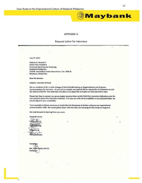 Maybank Credit Letter Study On The Organizational Culture Of Maybank Philippines