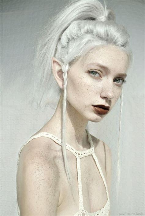 with white hair big ears elf girl whimsical wonderland pinterest elves