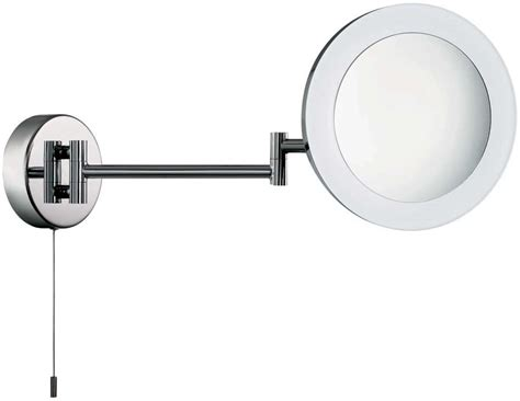 swing arm bathroom mirror chrome switched led illuminated swing arm bathroom mirror