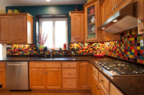 colorful kitchen backsplash transform your kitchen with color