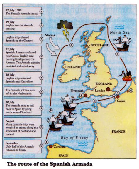 spanish armada map learningmrbelshawcouk  story
