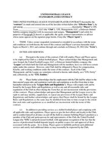 football contract template football contract template sle employment contract 7