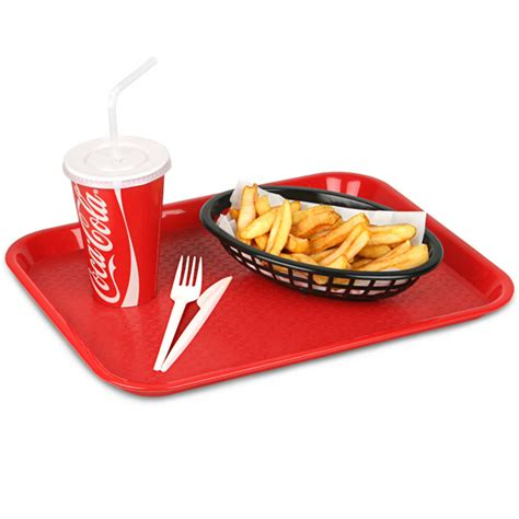 Fast Food Kitchen Design Fast Food Tray Small Red 10 X 14inch Food Trays Canteen