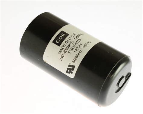 applications of capacitor start motor psu34015 cde capacitor 340uf 125v application motor start 2020061797
