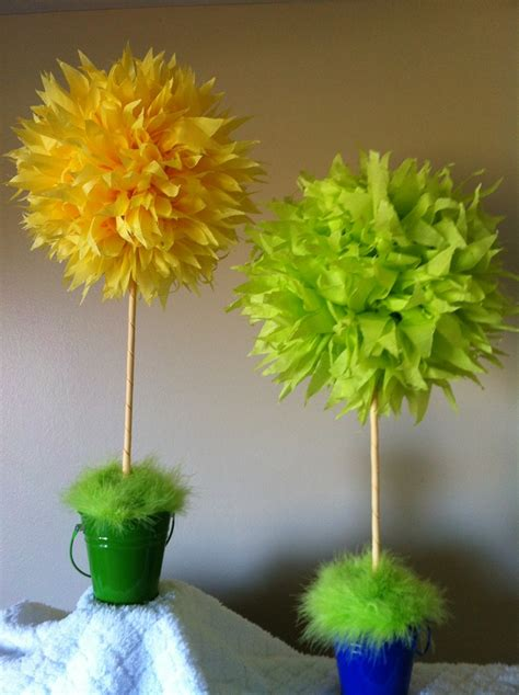 truffula tree center pieces   dr seuss baby shower craft ideas pinterest trees baby
