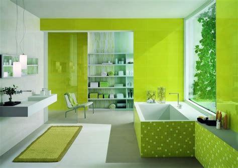 Supérieur Salle De Bain Faience Blanche #1: magnifique-salle-de-bain-verte-dalles-faience-salle-de-bain-moderne-mur-blanc-tapis-vert.jpg