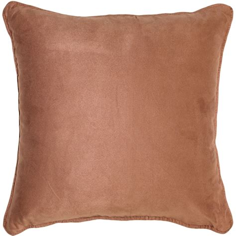 Microsuede Throw Pillows by Sedona Microsuede Light Brown Throw Pillow 22x22 From