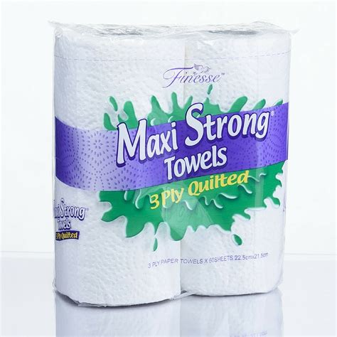 What Makes A Paper Towel Strong - maxi strong kitchen towel 3 ply 24 rolls finesse tissues
