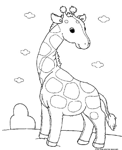 preschool coloring pages giraffe printable baby animals giraffe pair coloring pages for