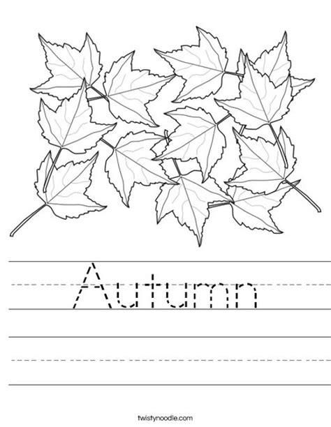 fall leaves printable activities autumn worksheet twisty noodle