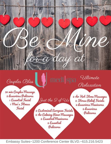 valentines day deals valentines day specials at u medispa embassy suites u