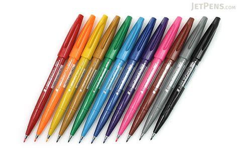 pentel color brush pentel fude touch brush sign pen 12 color bundle