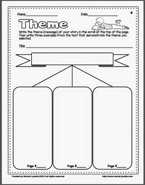 theme graphic organizer school planning juxtapost ideas for teaching theme and a couple freebies minds