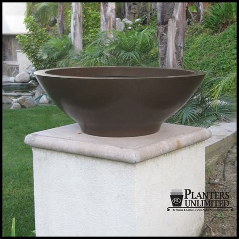 outdoor or indoor low bowl planters custom sizes styles