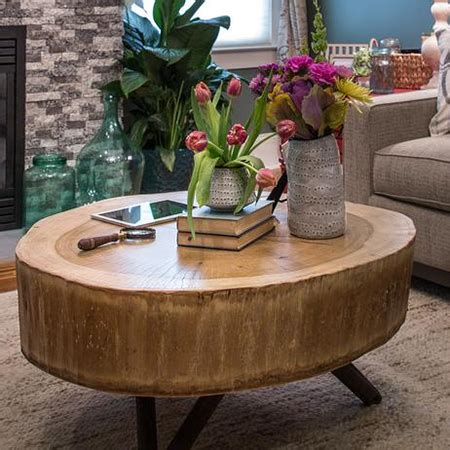 Diy Tree Stump Coffee Table Home Dzine Home Diy Make A Tree Stump Coffee Table