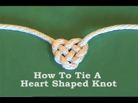how to tie a knot for a rope swing tie heart shaped knot youtube