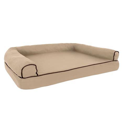 large memory foam dog bed petmaker large tan memory foam orthopedic pet bed m320158