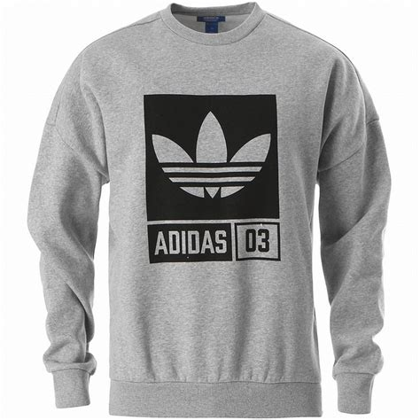 Sweater Adidas Logo adidas graphic crew neck sweatshirt grey trefoil