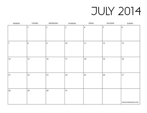 2014 Calendar Template Pdf 2014 Calendar Template Pdf Pictures To Pin On