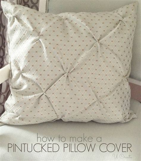 Pin Tucked Throw Pillow Tutorial U Create How To Make Sofa Pillows