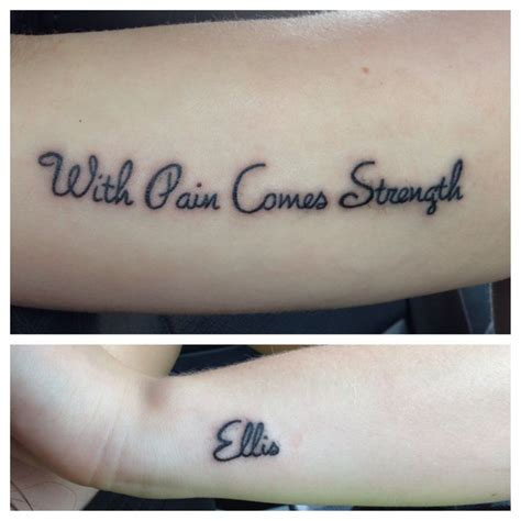 tattoo quotes about pain and strength with pain comes strength quotes quotesgram