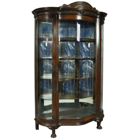 china cabinet glass replacement antique curved glass china cabinet antique furniture