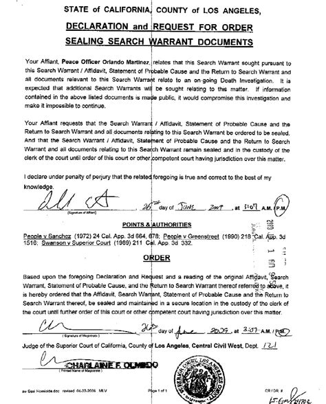 Federal Search Warrant Lookup Michael Jackson Search Warrant