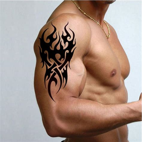3d tattoo in dubai negro tatuaje temporal para hombre del tatuaje del brazal