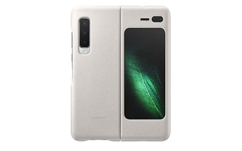 official samsung galaxy fold leather cover pops