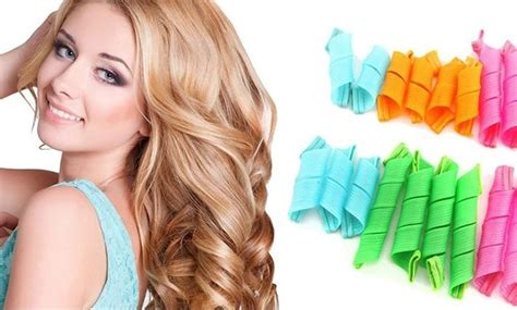short hair in a miracurl magic leverage hair curlers groupon goods