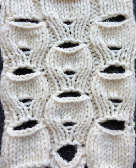 knitting pattern with holes button holes and make many increase lace