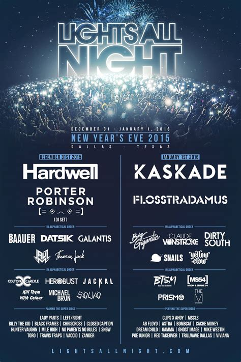 lights all night 2016 lineup lights all night sends attendees into 2016 with a packed