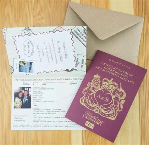 personalised wedding invites uk personalised passport wedding invitations uk 2681328 weddbook